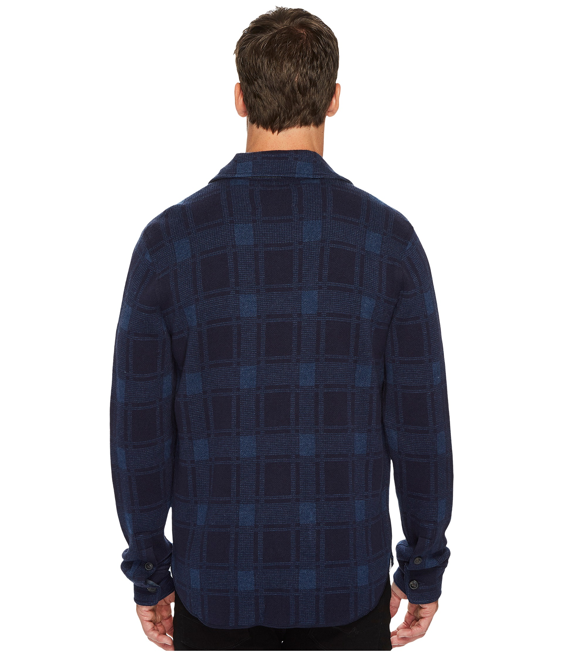 Lucky brand plaid sweater shirt at for Plaid shirt under sweater