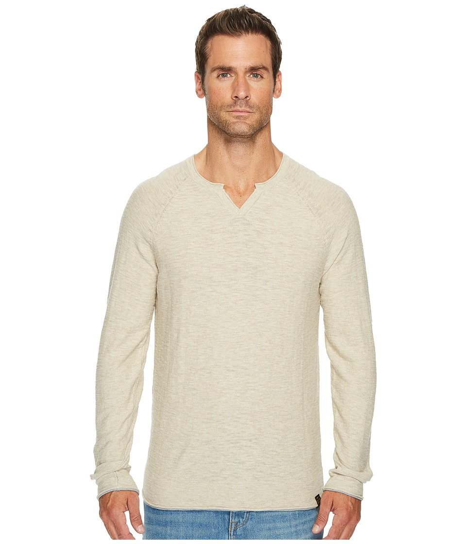 Lucky Brand Notch Neck Sweater (Oatmeal) Men