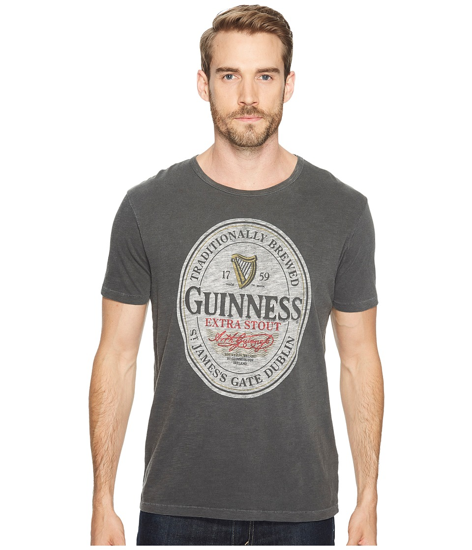 Lucky Brand Guinness Oval Graphic Tee (Jet Black) Men