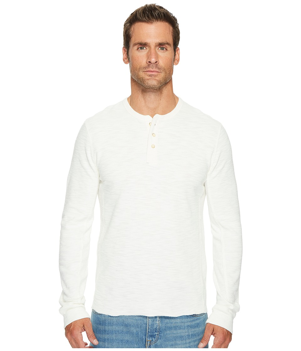 Lucky Brand Lived in Thermal Henley (Mashmallow) Men
