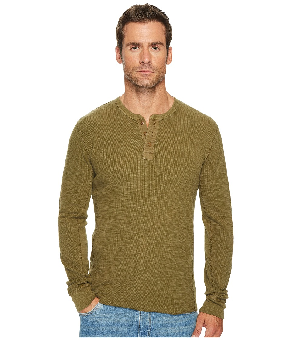 Lucky Brand Lived in Thermal Henley (Dark Olive) Men
