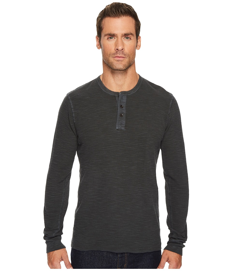 Lucky Brand Lived in Thermal Henley (Jet Black) Men