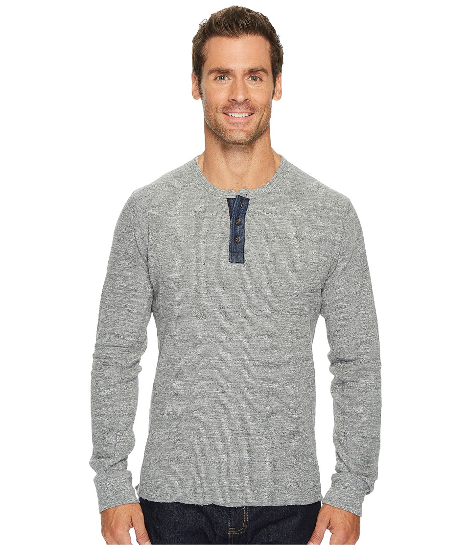 Lucky Brand Lived in Thermal Henley (Heather Grey) Men
