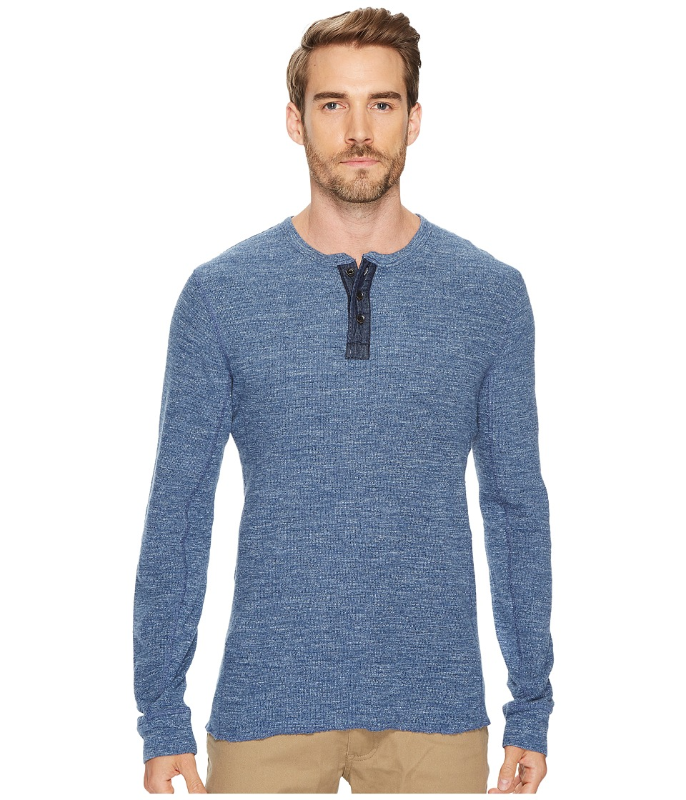 Lucky Brand Lived in Thermal Henley (Heather Blue) Men