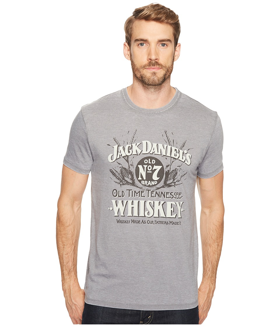 Lucky Brand Jack Daniels Graphic Tee (Gargoyle Burnout) Men