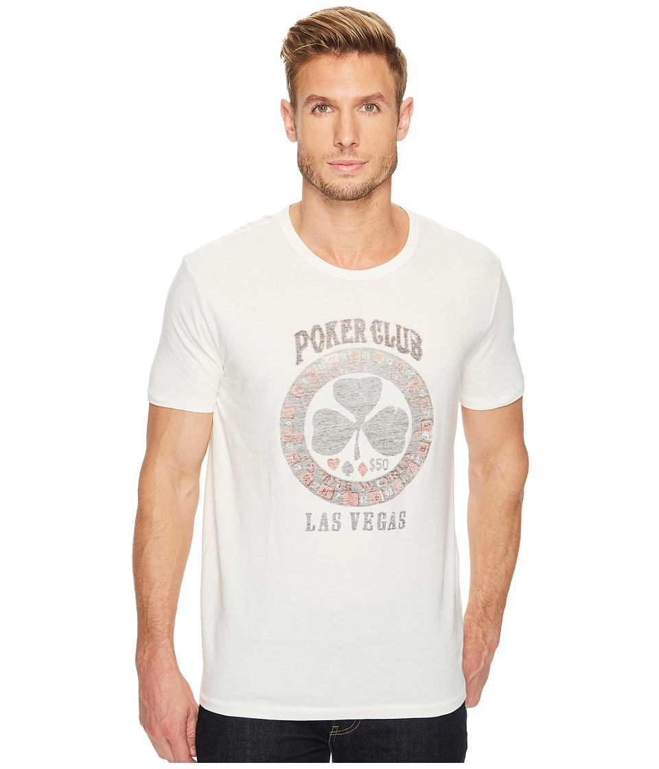 Lucky Brand Poker Club Graphic Tee (Marshmallow) Men