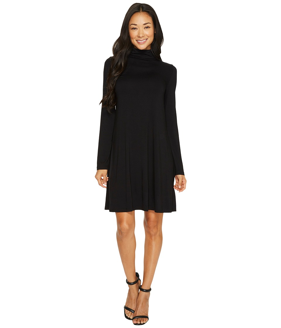 Karen Kane Long Sleeve Turtleneck Dress (Black) Women