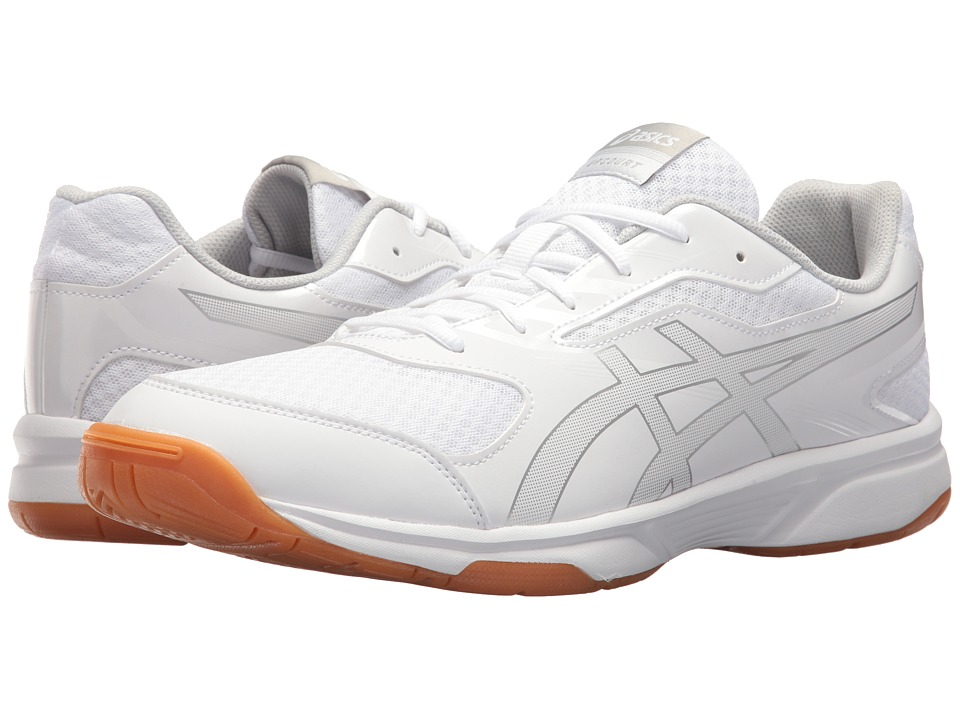 ASICS - Gel-Upcourt 2 (White/Silver) Mens Volleyball Shoes
