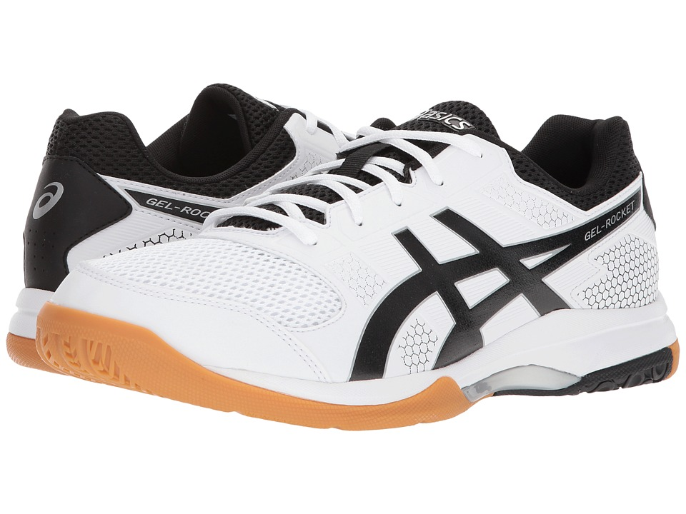 ASICS - Gel-Rocket 8 (White/Black/Silver) Mens Volleyball Shoes