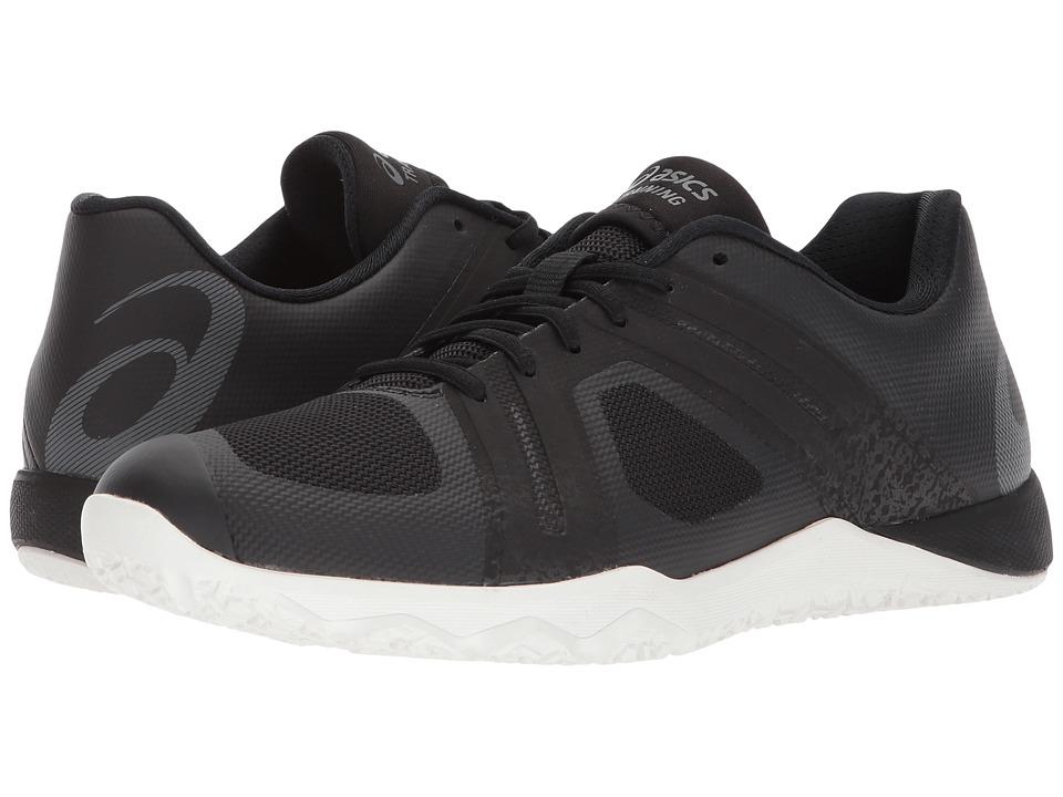 ASICS - Conviction X 2 (Black/Carbon/Flash Coral) Womens Cross Training Shoes
