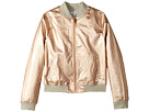 Splendid Littles Rose Gold Baseball Jacket (Big Kids)