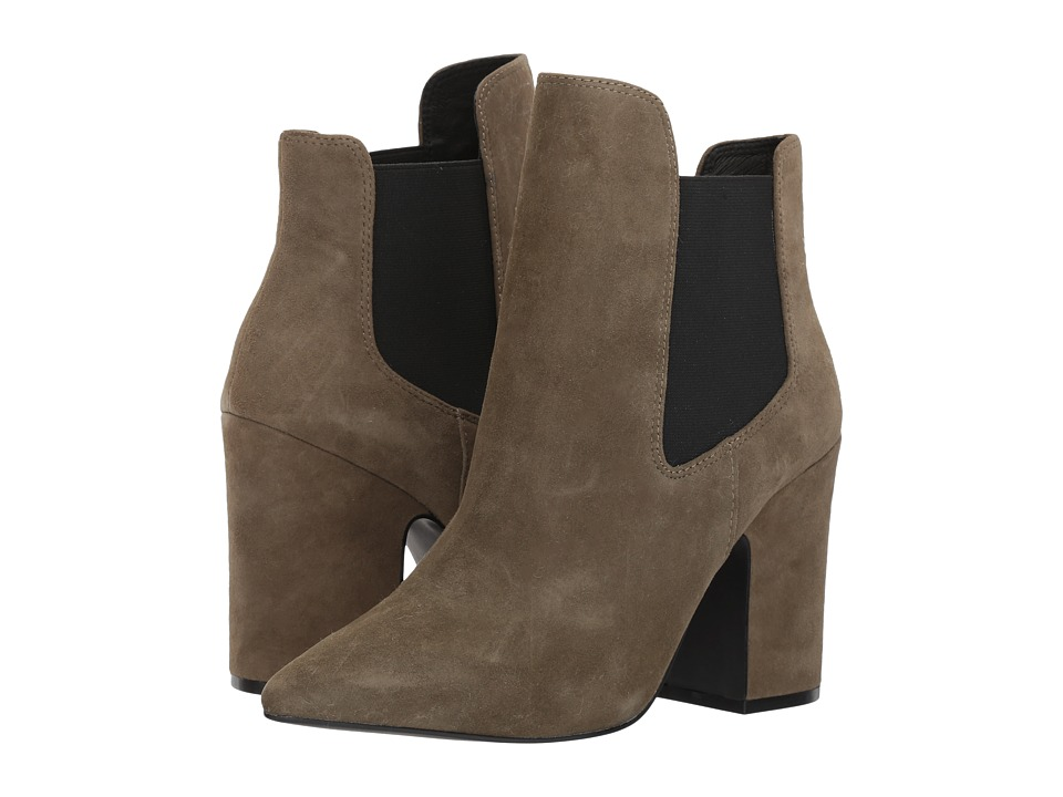 Kristin Cavallari Starlight Bootie (Olive Kid Suede) Women's Dress Boots