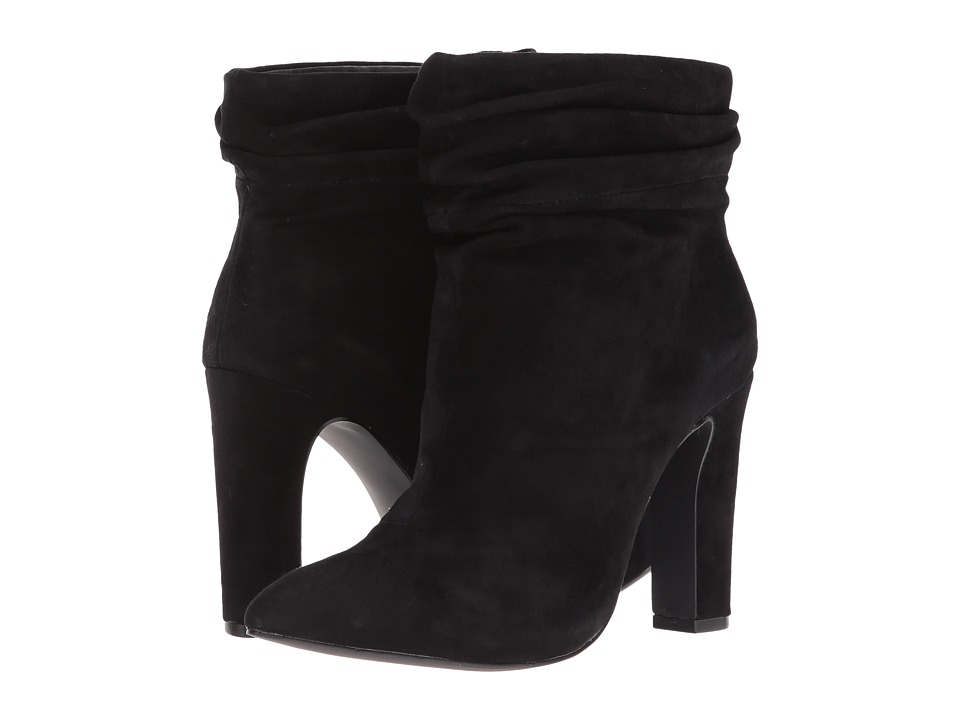 Kristin Cavallari Kane Bootie (Black Kid Suede) Women's Dress Boots