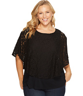 Karen Kane Plus - Plus Size Layered Lace Top