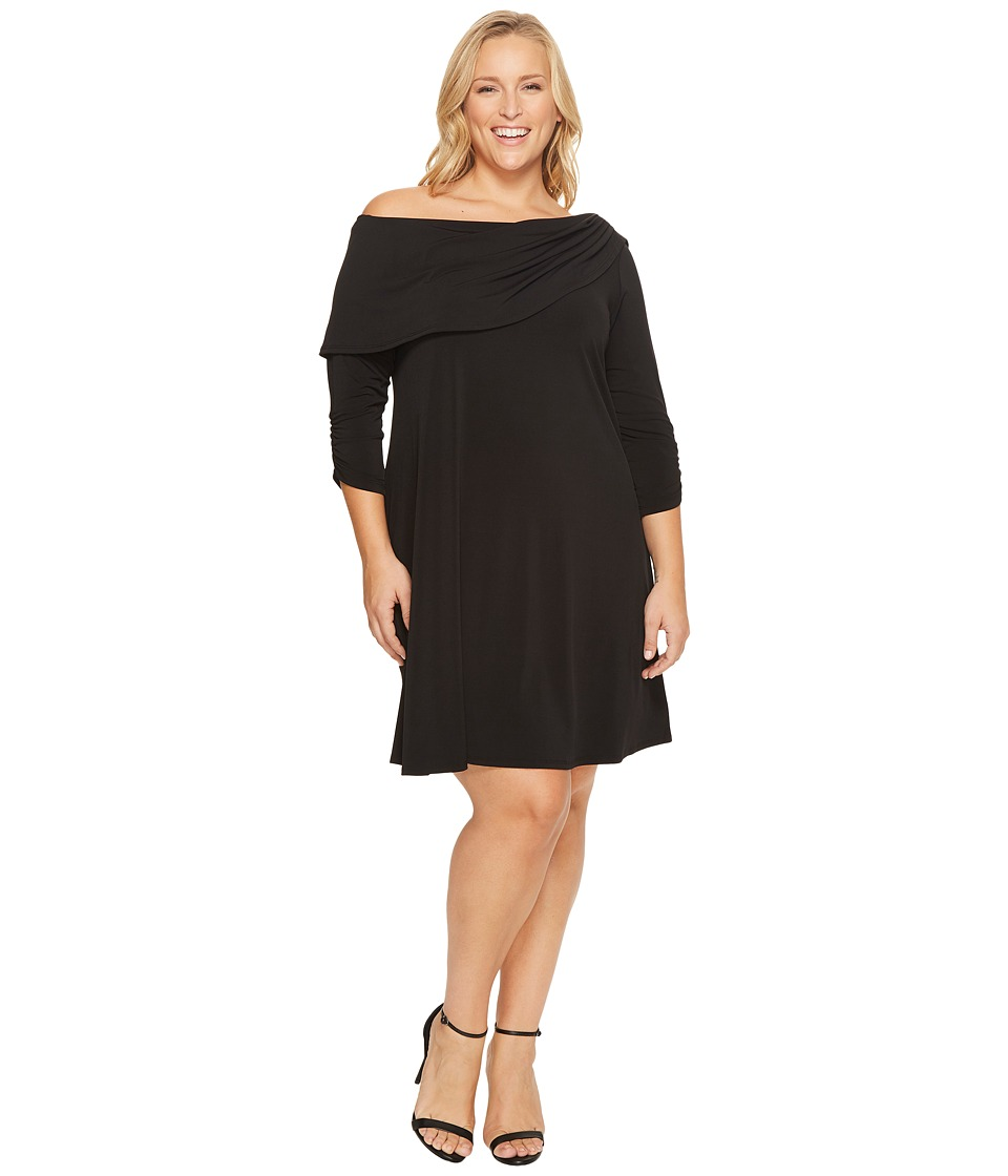 Karen Kane Plus Karen Kane Plus - Plus Size Drape Boat Neck Dress