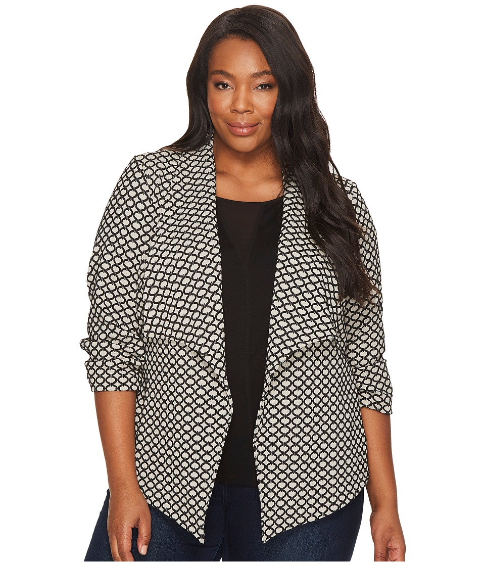 Karen Kane Plus Karen Kane Plus - Plus Size Jacket with Shirred Sleeves