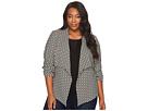 Karen Kane Plus - Plus Size Jacket with Shirred Sleeves