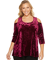Karen Kane Plus - Plus Size 3/4 Sleeve Cold Shoulder Top
