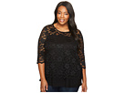 Karen Kane Plus Plus Size Lace Side Tie Top