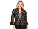 Karen Kane Plus Plus Size Lace Flare Sleeve Top