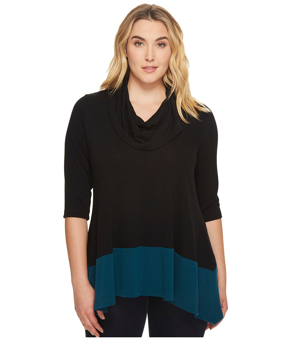Karen Kane Plus Karen Kane Plus - Plus Size Color Block Cowl Neck