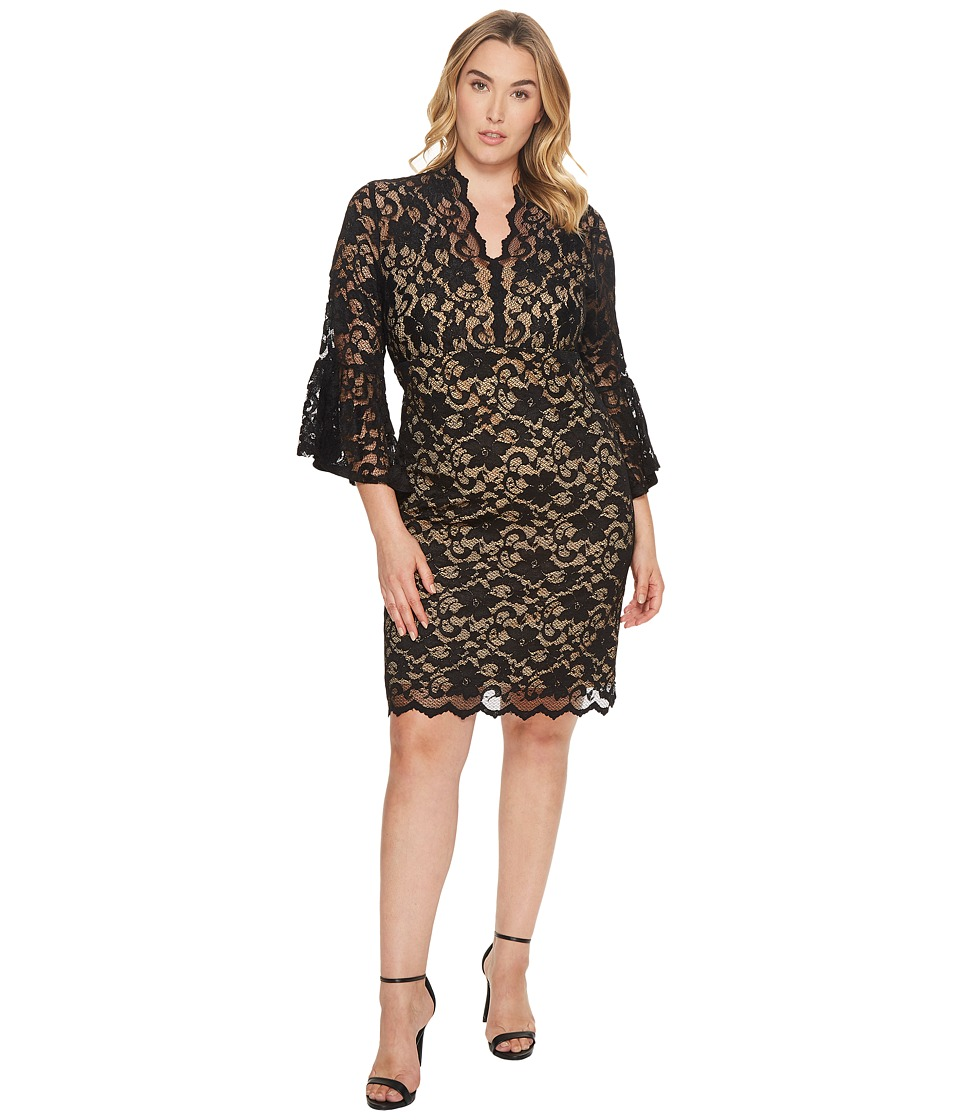 Karen Kane Plus Karen Kane Plus - Plus Size Flare Sleeve Lace Dress