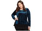 Karen Kane Plus Plus Size Lace Inset Top
