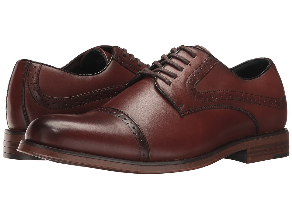 Dockers Bateman Cap Toe Oxford (Whiskey Polished Full Grain) Men