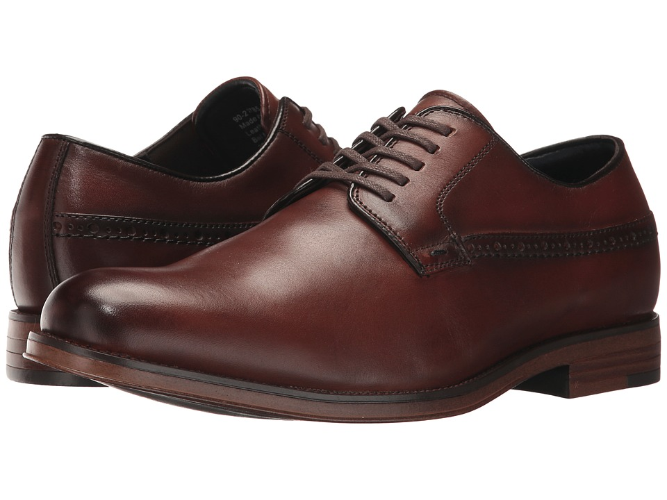Dockers Albury Plain Toe Oxford (Whiskey Polished Full Grain) Men