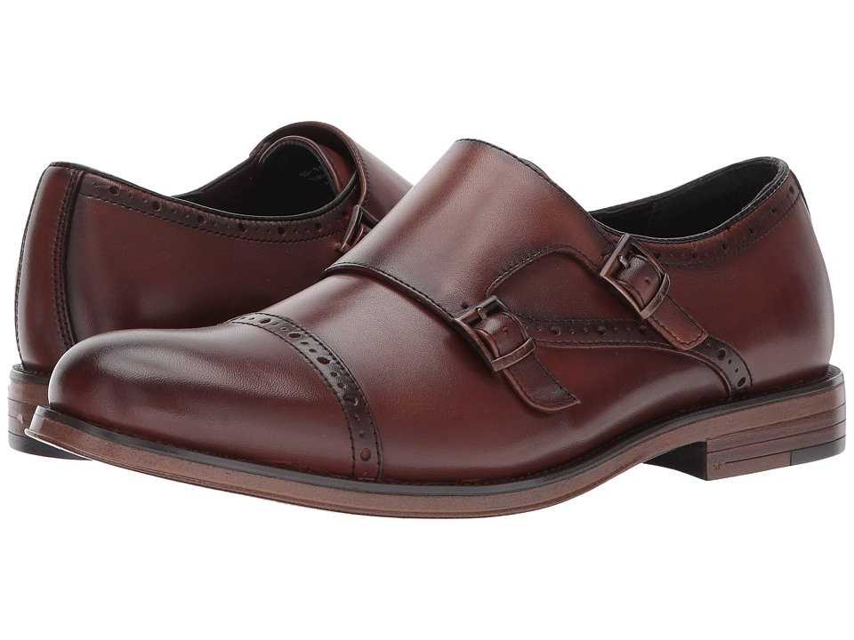 Dockers Maycrest Cap Toe Double Monk (Whiskey Polished Full Grain) Men