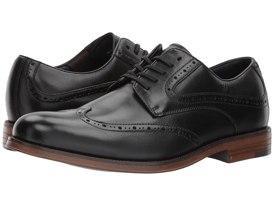 Dockers Hanover Wingtip Oxford (Black Polished Full Grain) Men