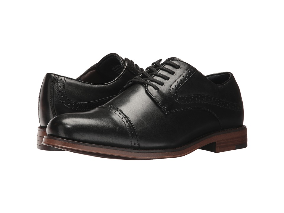 Dockers Bateman Cap Toe Oxford (Black Polished Full Grain) Men