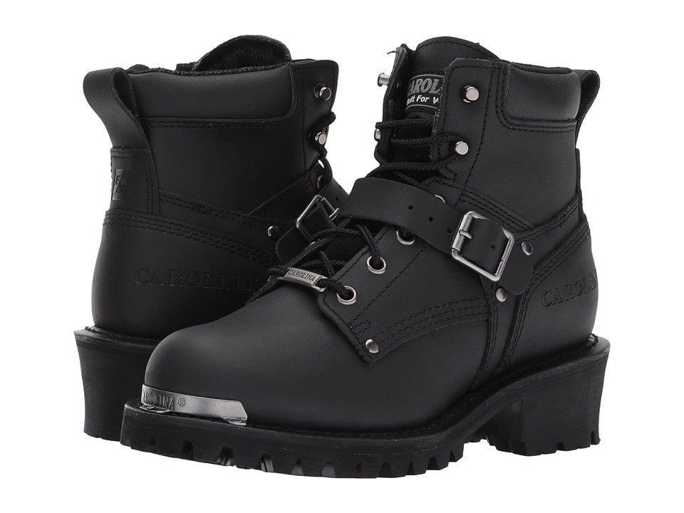 Carolina Rebel 6 Ankle Strap Side Zipper Logger CA436 (Black) Women