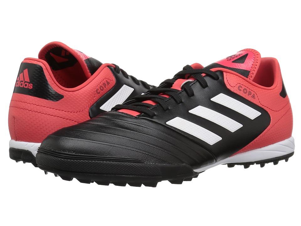 adidas - Copa Tango 18.3 Turf (Black/White/Real Coral) Mens Soccer Shoes