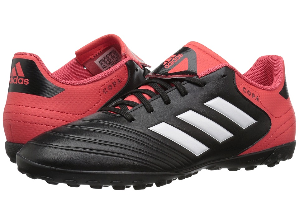 Adidas Copa Tango 18.4 Turf (Black/White/Real Coral) Men'...