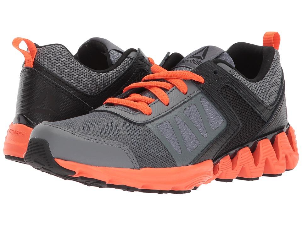 Reebok Kids ZigKick 2K18 (Little Kid) (Alloy/Black/Bright Lava) Boys Shoes