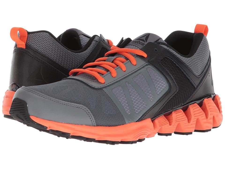 Reebok Kids ZigKick 2K18 (Big Kid) (Alloy/Black/Bright Lava) Boys Shoes