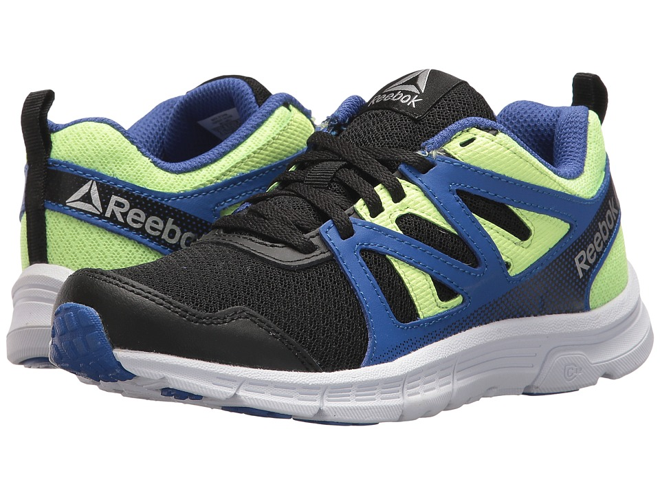 Reebok Kids - Run Supreme 2.0 (Little Kid/Big Kid) (Black/Acid Blue/Electric Flash) Boys Shoes