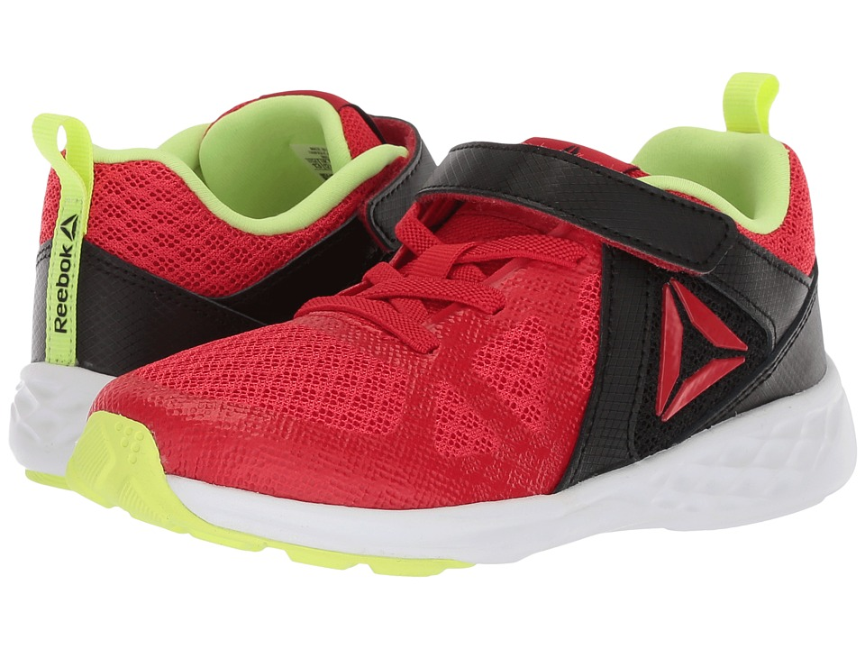 Reebok Kids Smooth Glide (Little Kid) (Primal Red/Black/Electric Flash) Boys Shoes