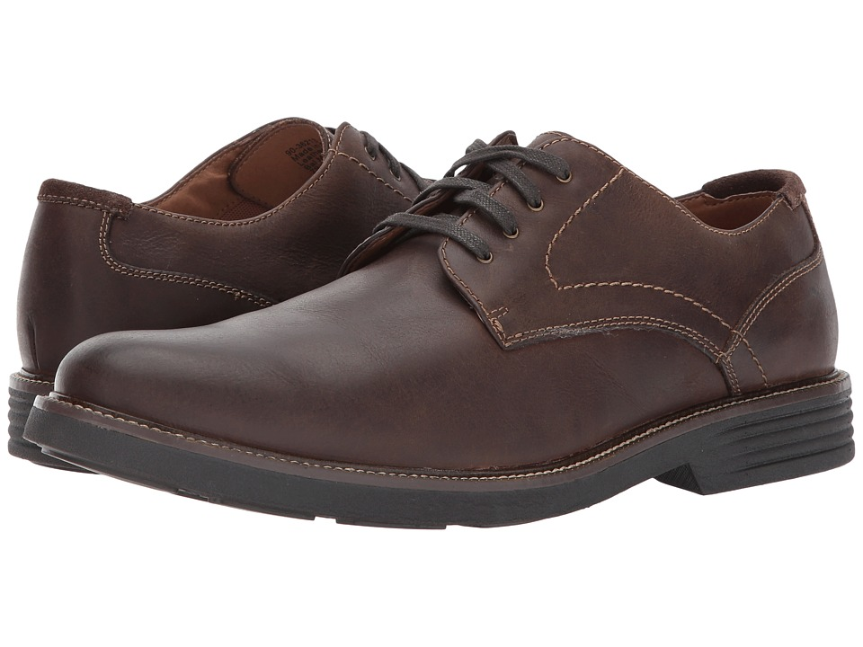 Dockers - Parkway Plain Toe Oxford (Dark Brown Waxy Burnished Full Grain) Mens Shoes