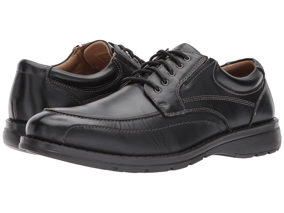 Dockers Barker Moc Toe Oxford (Black Polished Full Grain) Men