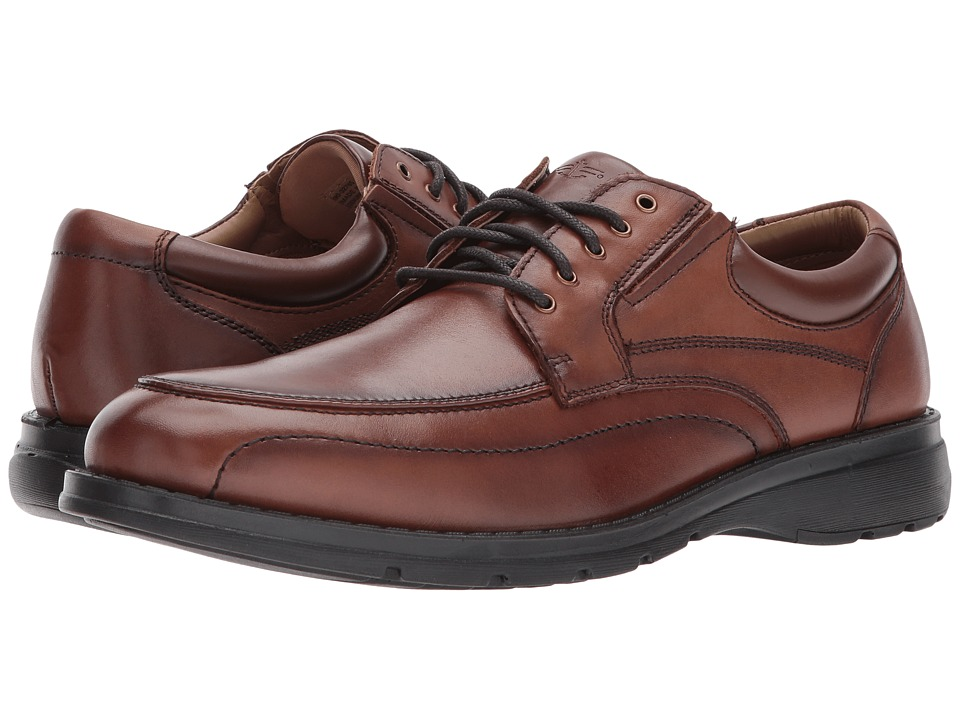 Dockers Barker Moc Toe Oxford (Dark Tan Polished Full Grain) Men