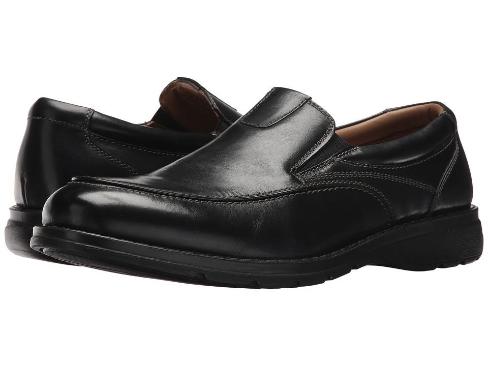 Dockers Calamar Moc Toe Loafer (Black Polished Full Grain) Men