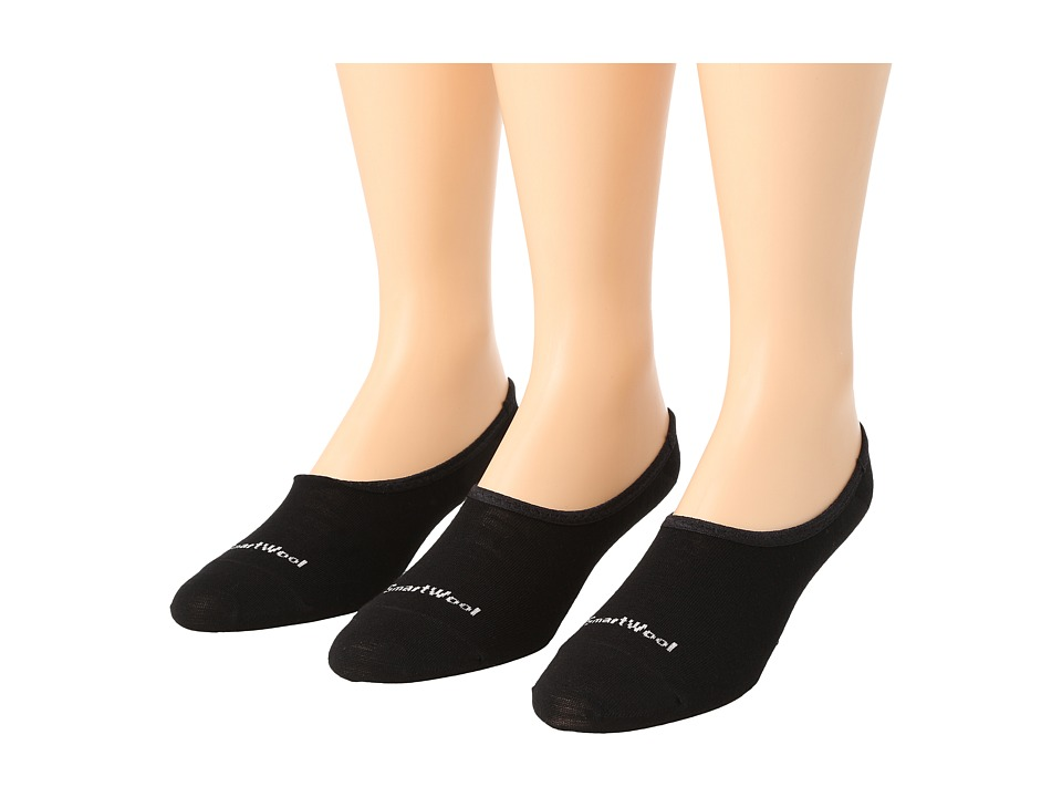 Smartwool Hide and Seek 3 Pack Black Womens No Show Socks Shoes