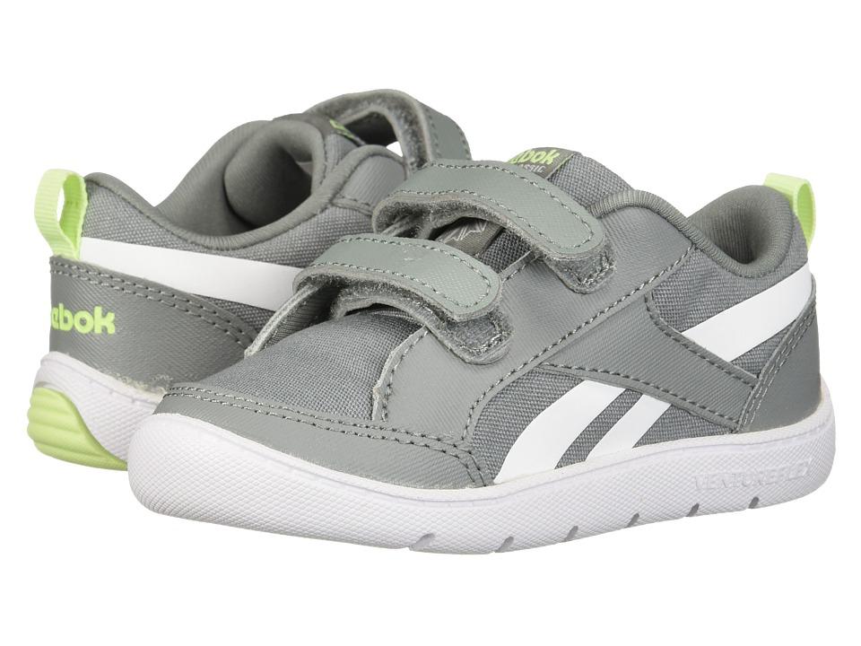 Reebok Kids Ventureflex Chase II (Toddler) (Flint Grey/Lime Glow/White) Boys Shoes