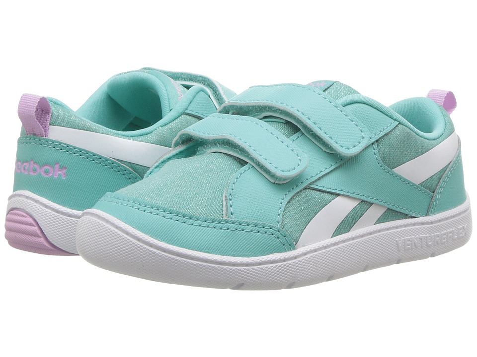 Reebok Kids Ventureflex Chase II (Toddler) (Turquoise/Moonglow/White) Girls Shoes