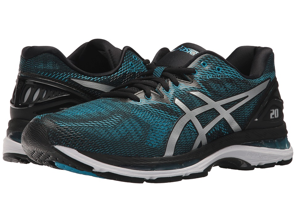 ASICS - GEL-Nimbus(r) 20 (Island Blue/White/Black) Mens Running Shoes