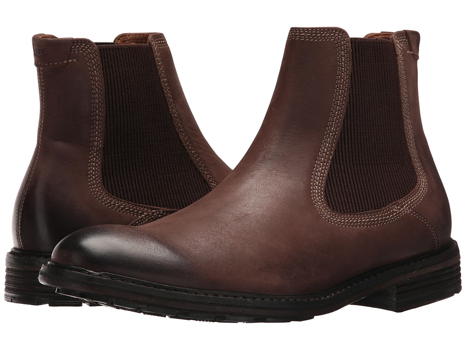 G.H. Bass & Co. Hendrick Chelsea (Dark Brown Burnished Full Grain) Men