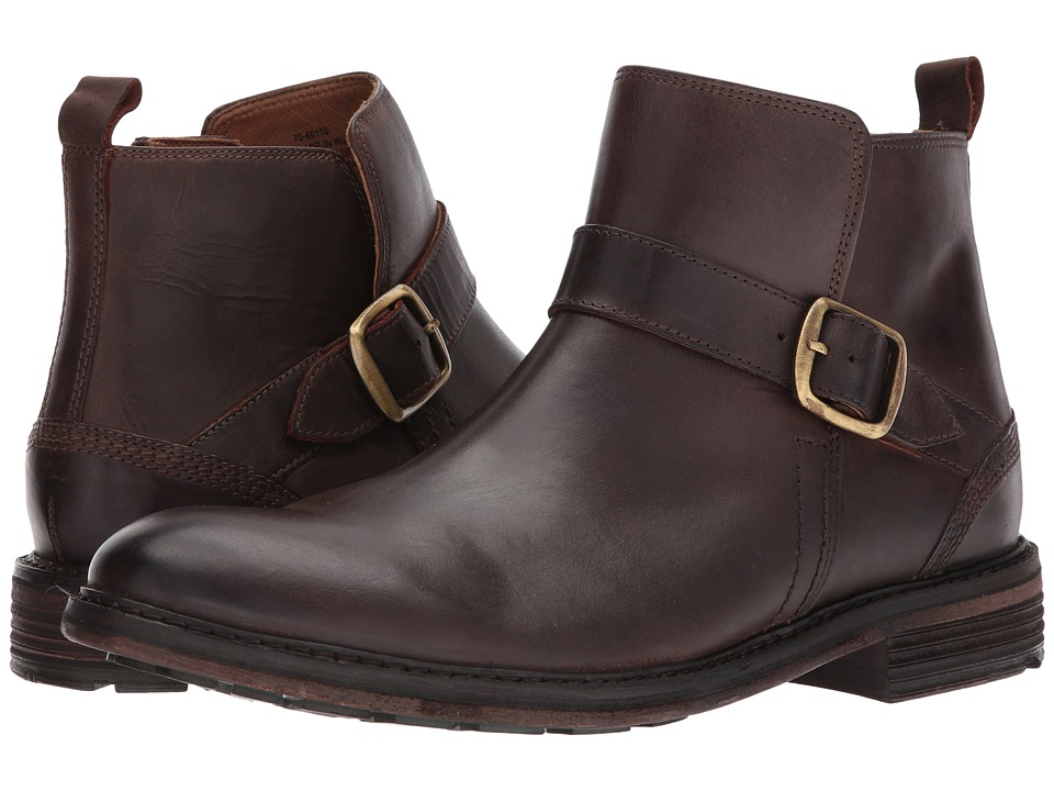 G.H. Bass & Co. Hawk (Dark Brown Tumbled Full Grain) Men
