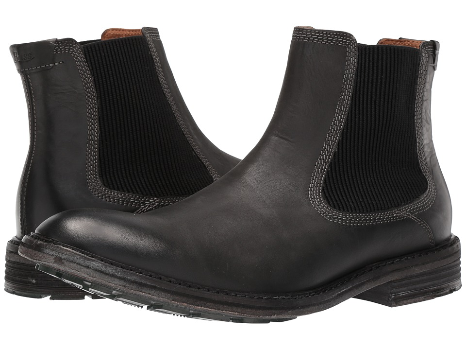 G.H. Bass & Co. Hendrick Chelsea (Black Tumbled Full Grain) Men